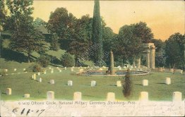 Officers Circle, National Military Cemetery, Vicksburg, MS Pre-1907 Postcard