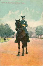 Mounted Police Officer, Policeman, New York City NY 1910 Postcard