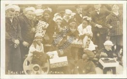 Sailors, Kids, Gifts, Battleship USS California 1921 Christmas RP Ship Postcard