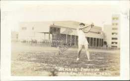 Hammer Throwing, Track Team, US Navy Ship USS California - Early RP Postcard