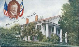 Theodore Roosevelt, Bulloch Hall, Roswell, GA Jamestown Expo Postcard