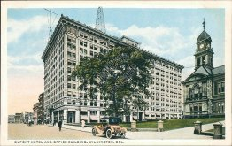 DuPont Hotel & Office, Wilmington, DE Delaware - Early 1900's Postcard