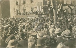 President Theodore Roosevelt, Campaign Rally, Kingston, NY RARE 1910 RP Postcard