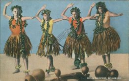 Hula Dancers, Honolulu, HI Hawaii - Early 1900's Postcard