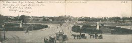 Coteaux de la Loire, Tours, France - Early 1900's DOUBLE Foldout Postcard