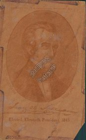 James Polk 11th President of United States Portrait Leather Postcard