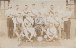 Baskteball Team - Early 1900's Real Photo RP Postcard