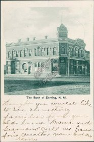 Dirt Street, Bank of Deming, NM New Mexico 1909 Postcard