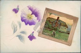 Scenic View, Flowers. Wilcox, NE Nebraska - 1910 Embossed Postcard