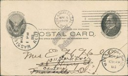 Los Angeles, CA to Massillon, OH Ohio 1903 McKinley Postal Card