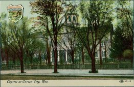 Capitol, Coat of Arms, Carson City, NV Nevada - Early 1900's Postcard