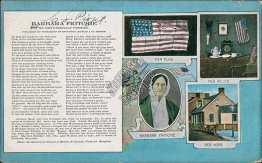 Barbara Fritchie, US Flag, Home, Relic - Early 1900's Patriotic Postcard