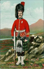 Private, Royal Highlanders, Black Watch - Early 1900's Postcard