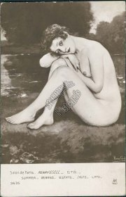 Salon de Paris, Summer, Henry Gsell - Early 1900's French Nude Postcard