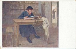 Jewish Man Reading - Early 1900's Judaica Postcard