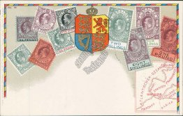 Gibraltar Stamps, Louny, Czech Republic - Philatelic Postcard, Postmark