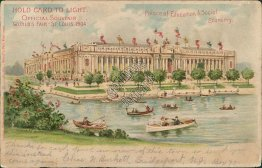 Palace of Education, St. Louis World's Fair 1904 HOLD TO LIGHT Postcard