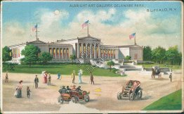 Albright Art Gallery, Buffalo, NY New York 1915 HOLD TO LIGHT Postcard