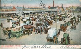 Wallabout Market, Horse Wagons, Brooklyn, NY New York 1905 Postcard