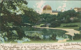Central Park, Temple Beth-El, New York City, NY Pre-1907 ROTOGRAPH Postcard