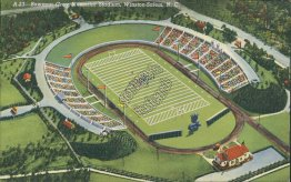 Bowman Gray Memorial Football Stadium, Winston-Salem, NC Postcard