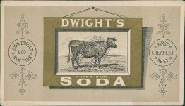 Dwight's Super Carb Baking Soda, New York - Victorian Trade Card