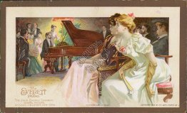 Everett Piano, Johm Church Company, Boonville, NY 1893 Advertising Card