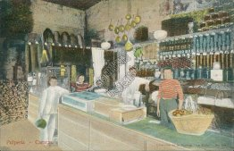 Pulperia, Interior of Grocery Store, Caracas, Venezula - Early 1900's Postcard