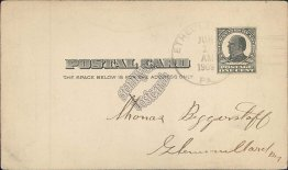 Point Gas Co., Ethel Landing, PA Pennsylvania 1909 Postal Card
