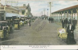 Boardwalk After Mayor's Trip, Atlantic City, NJ New Jersey Pre-1907 Postcard