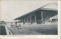 New York State Fair, Harness Horse Racing, Syracuse, NY - Early Postcard