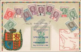 Fiji Stamps, Royal Dublin Irish Fair 1946 Stamp Philatelic Postcard