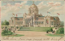 Missouri State Building, St. Louis 1904 World's Fair HOLD TO LIGHT Postcard
