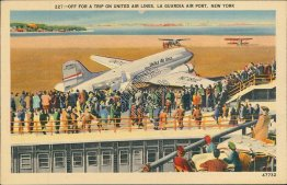 United Airlines Plane, La Guardia Airport, New York City, NY Postcard