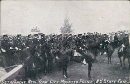 Detachment New York City Mounted Police, NY State Fair - Early 1900's Postcard
