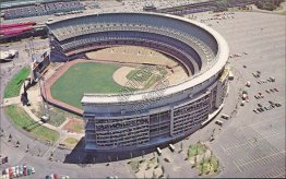 Aerial View, Shea Stadium, Mets Baseball Jets Football, Queens, NY Postcard