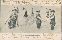 French Bathing Beauties - Ostende La vie Balneaire 1904 Postcard