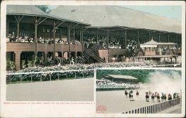 Grand Stand, Thoroughbred Race Track, Saratoga, NY New York 1908 Postcard