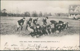 Football Team, Kingsley School, Essex Falls, NJ New Jersey 1906 Postcard