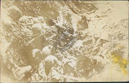 Skulls, Skeletons in Trenches - Early 1900's RP WWI Photo Postcard