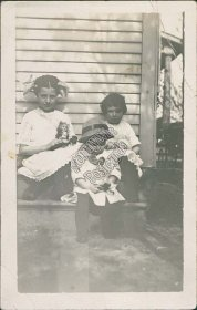 Boy, 2 Girls Playing w/ Toy Doll, Paulding, OH Ohio - Early 1900's RP Postcard