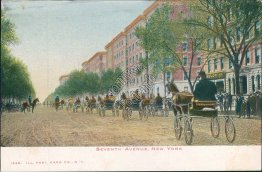 7th Ave., Horse Drawn Wagon, New York City, NY Pre-1907 Postcard