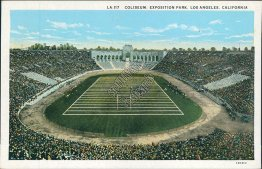Coliseum Football Stadium, Exposition Park, Los Angeles, CA California Postcard