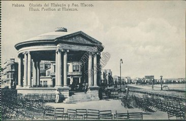 Music Pavillion at Malecon, Havana, Cuba - Early 1900's Postcard